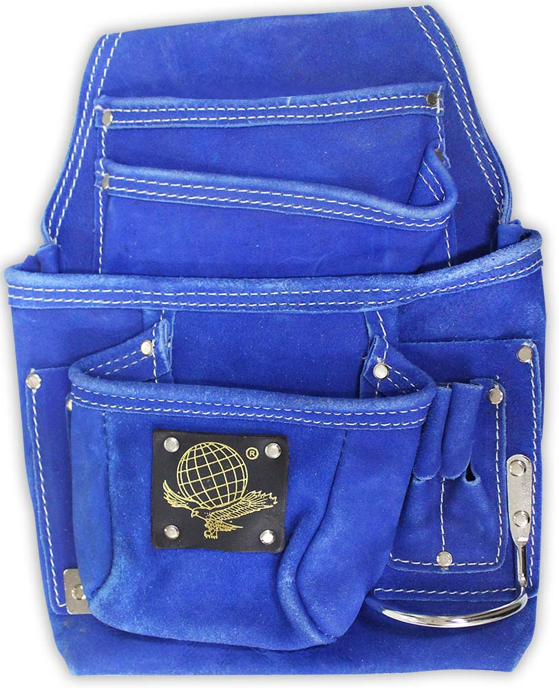 "13"""" X 9.5"""" Tool Bag With 10 Pockets In Blue Suede With Tool Holders :  ( Pack of  3 Pcs. )"