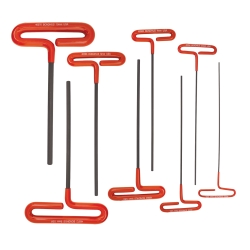 8 Piece 9 Cushion Grip Loop T-Handle Hex Wrench Set