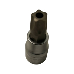 "Tamper Proof Torx Socket, 5 Point, T27, 1/4"""" Drive"