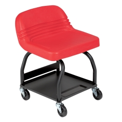 Large Padded Mechanic's Seat - Red