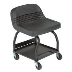 Large Padded Mechanic's Seat - Black