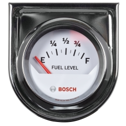 "2"""" Electrical Fuel Level Gauge, White Face"