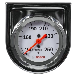 "2"""" Mechanical Water/Oil Temperature Gauge, White Face"
