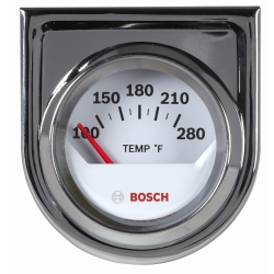 "2"""" Electrical Water Temperature Gauge, White Face"